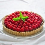 Healthy Raspberry Tart Recipe with Chocolate