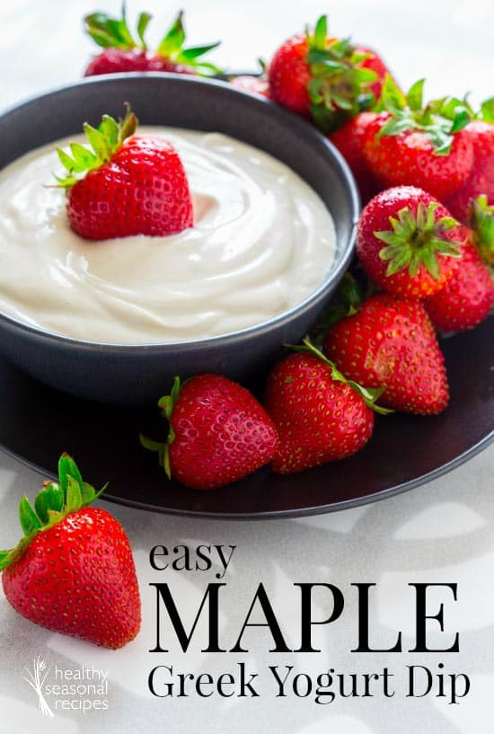 ... Greek yogurt dip. Dip fresh summer berries into the 5-minute dip for a