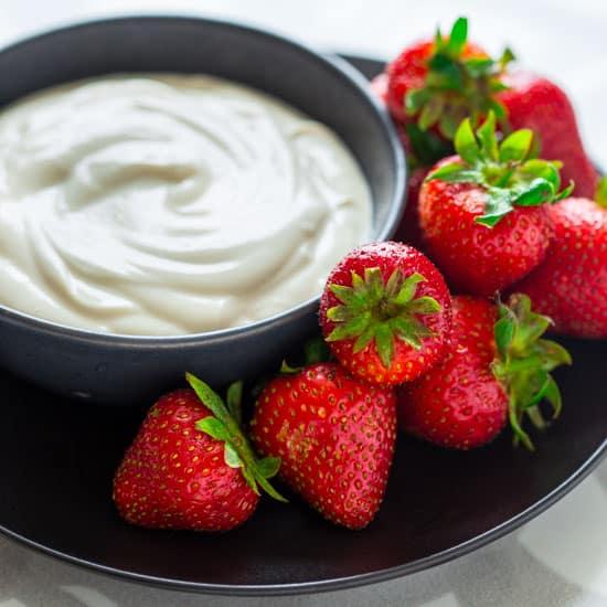 easy maple greek yogurt dip