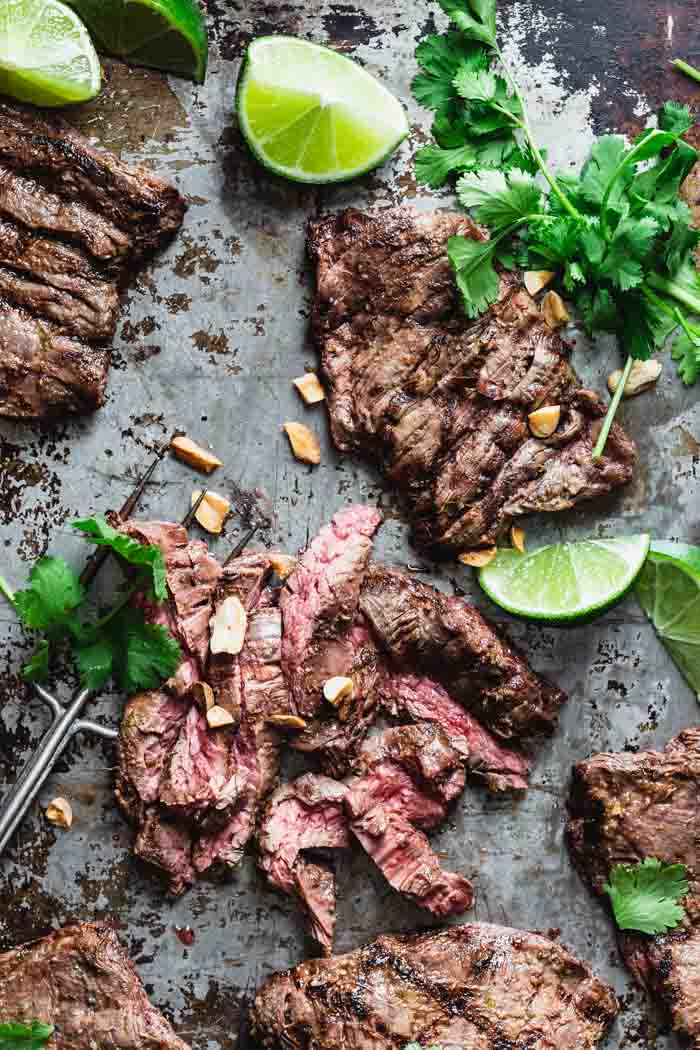 Grilled Thai Skirt Steak with coconut and limeGrilled Thai Skirt Steak with coconut and lime
