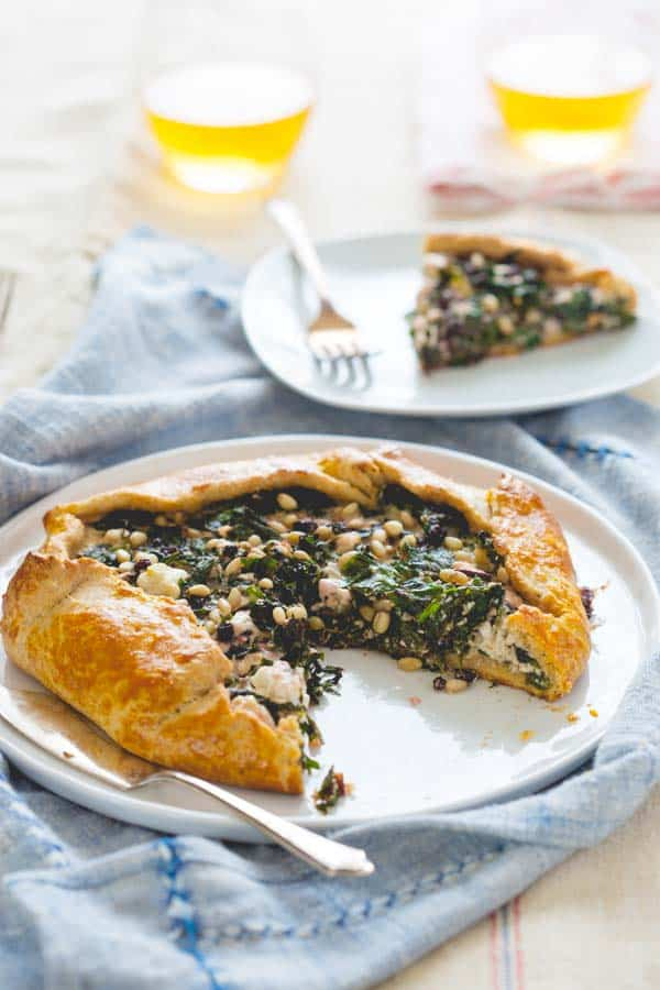 kale and beet green galette with feta| healthy seasonal recipes