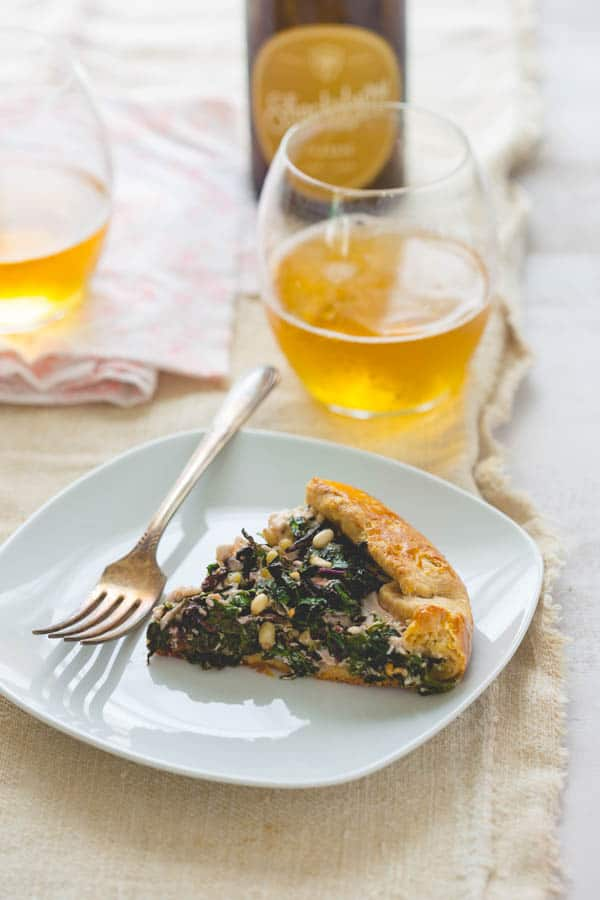 kale and beet green galette with feta  healthy seasonal recipes