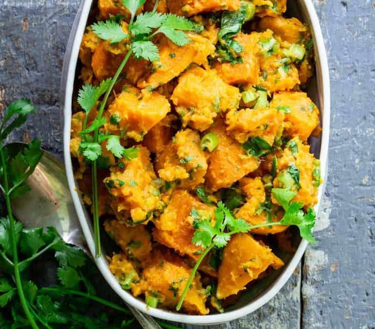 paleo ginger cilantro sweet potato salad