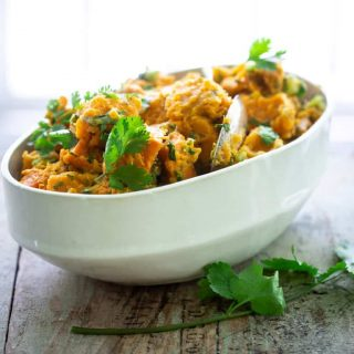 Paleo Ginger Cilantro Sweet Potato Salad