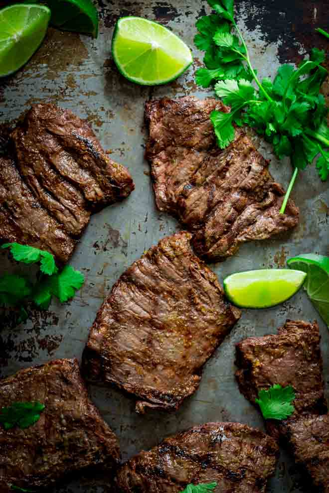 Thai Skirt Steak on Healthy Seasonal Recipes by Katie Webster | Paleo, made without refined sugars or grain