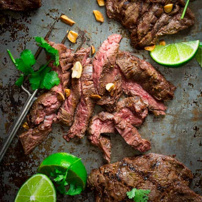 Grilled thai coconut lime skirt steak healthy seasonal