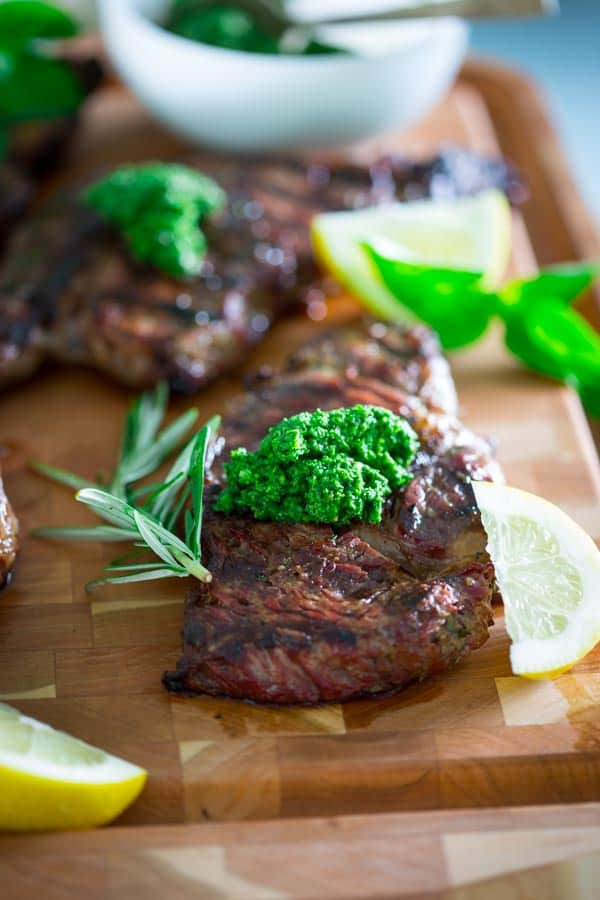 steaks are so flavorful and juicy. After they are rubbed with garlic ...