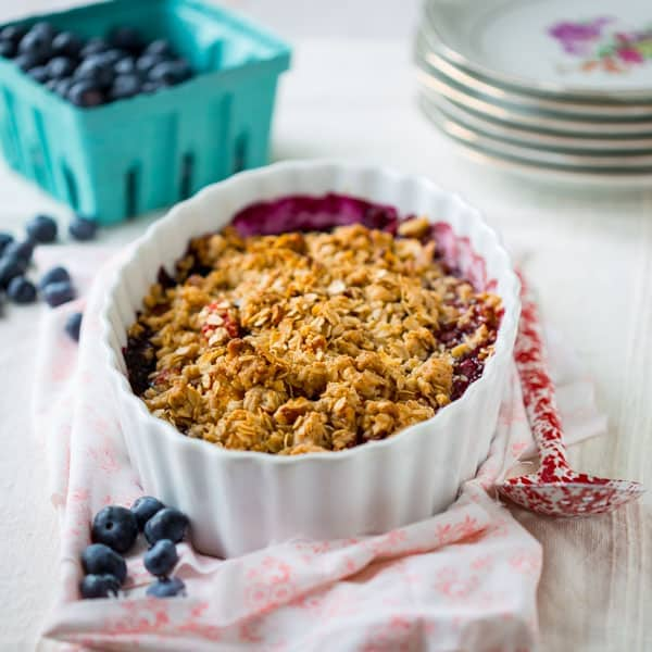 gluten free maple peach blueberry crisp - Healthy Seasonal Recipes