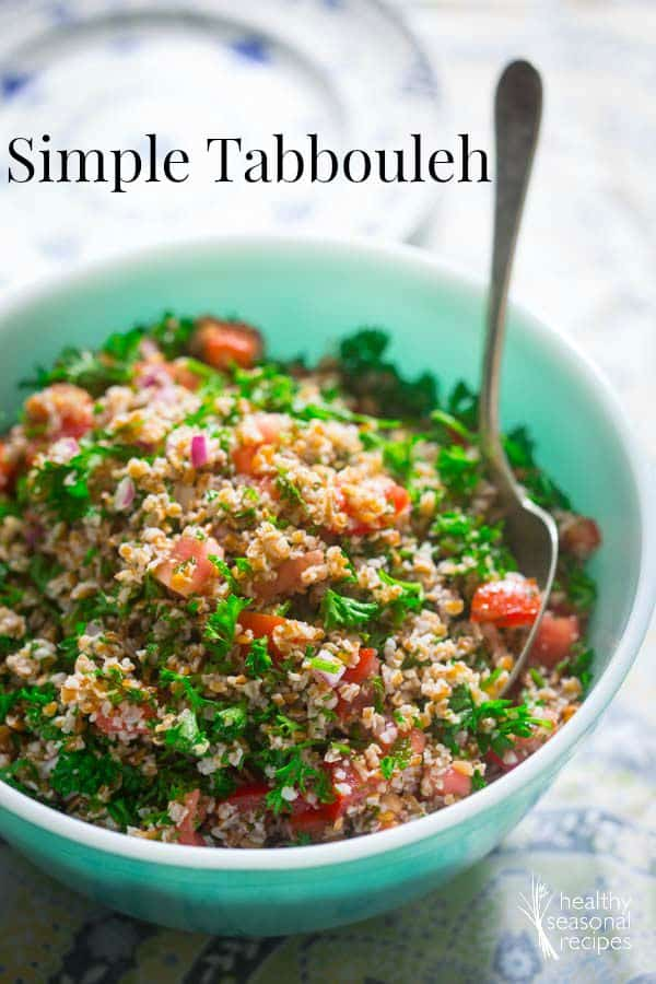 Simple Tabbouleh Salad on Healthy Seasonal Recipes