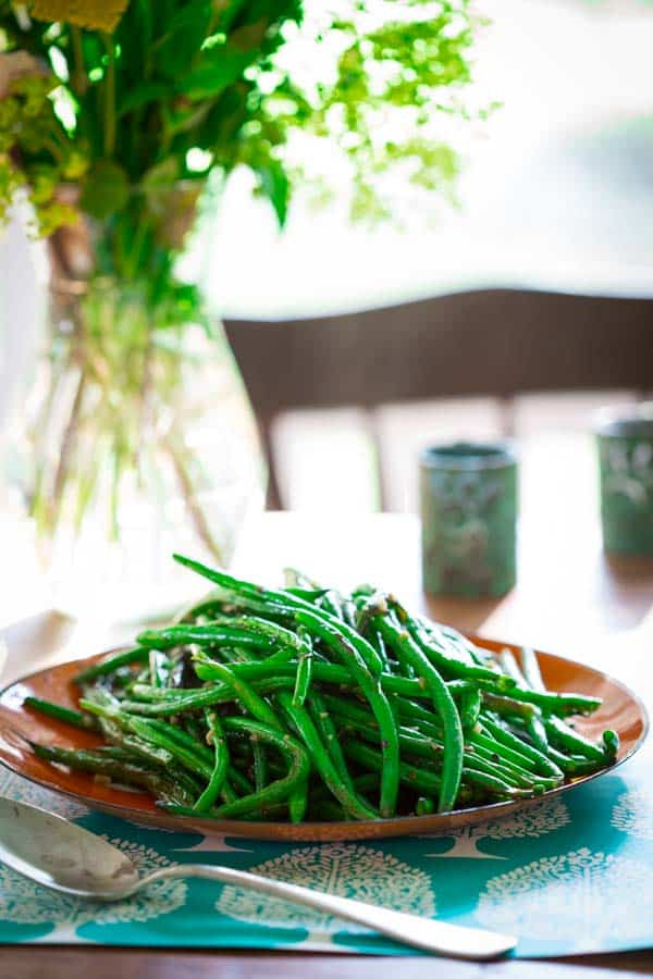 Simple Skillet Green Beans | Vegan Paleo Glutenfree