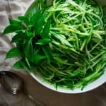 clean eating cucumber noodles with lemon basil on healthy seasonal recipes
