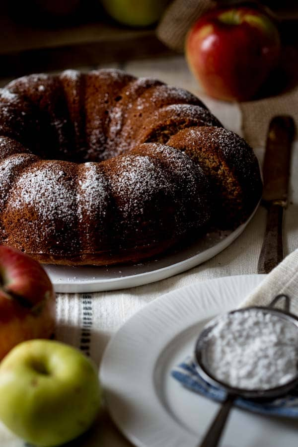 Gluten-free Applesauce Bundt Snack Cake on Healthy Seasonal Recipes