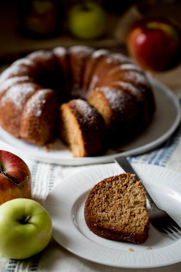 Gluten Free Applesauce Bundt Snack Cake Healthy Seasonal