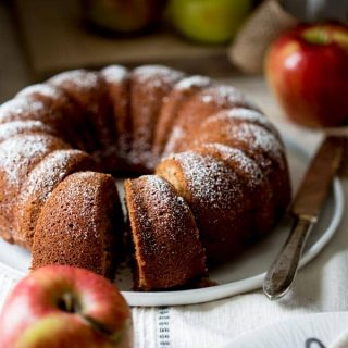 Bundt cake made with brown-rice flour, applesauce and honey. Gluten-free via @healthyseasonal