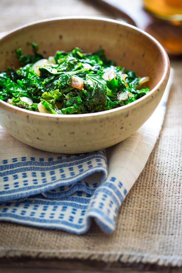 Kale with Cider Vinegar on Healthy Seasonal Recipes by Katie Webster   gluten-free, paleo and vegan