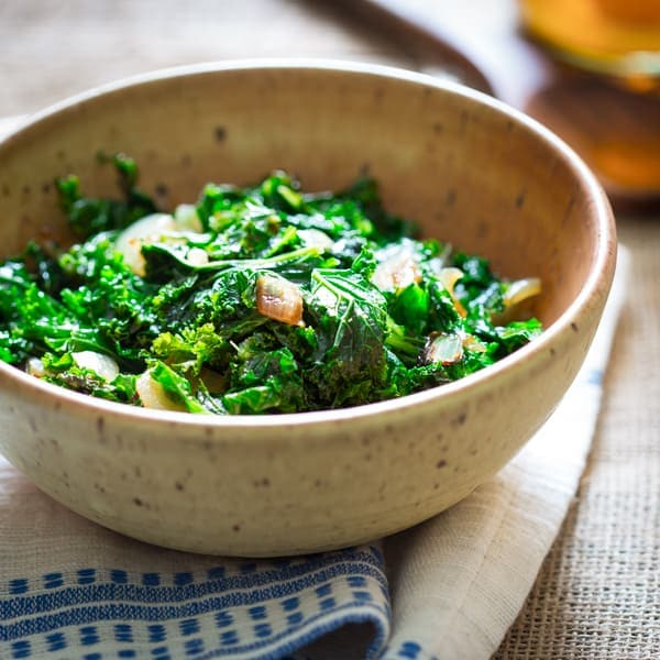 kale with cider vinegar