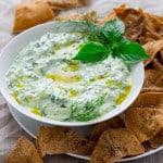 Tzatziki with Za'atar Pita Chips | healthy seasonal recipes