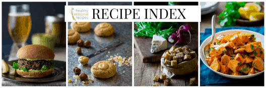 recipe index for healthy seasonal recipes
