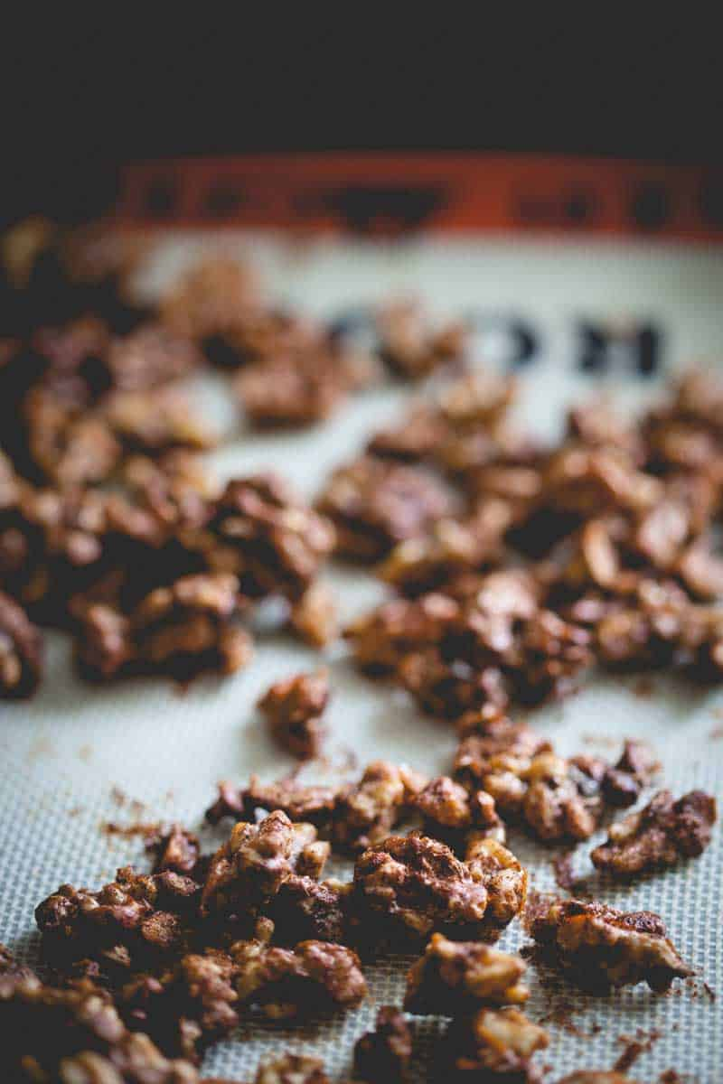 Sweet and Spicy Roasted nuts {paleo friendly and gluten-free} on Healthy Seasonal Recipes by Katie Webster