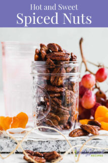 a jar with spiced nuts