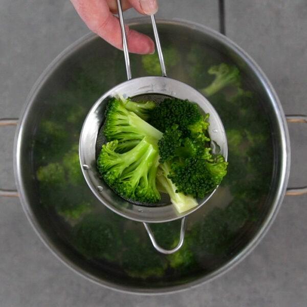 Boil the broccoli