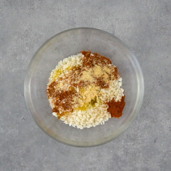 the panko and seasoning in a bowl