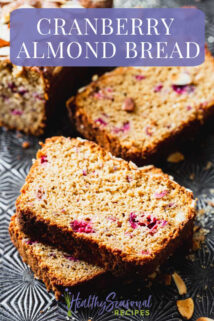 slices of cranberry almond bread