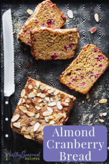 sliced cranberry almond bread