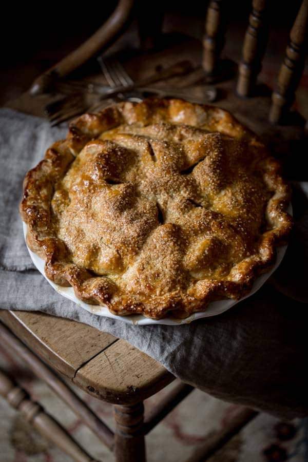 double crust deep dish maple apple pie