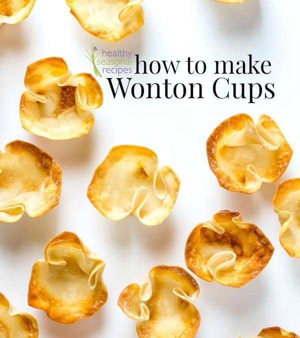 how to make wonton cups