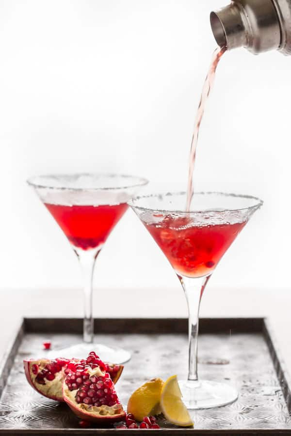 pomegranate lemon drop martini