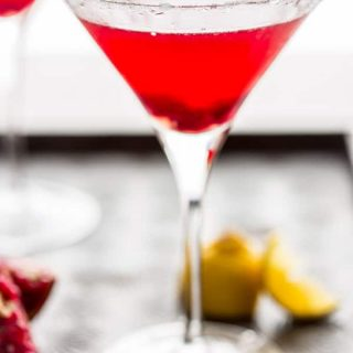 Pomegranate Lemon Drop Martini on HealthySeasonalRecipes.com
