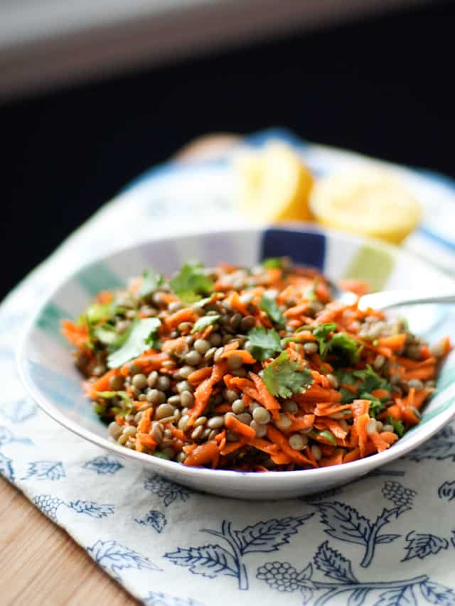 Lentil Salad with Carrots on Aggie's Kitchen
