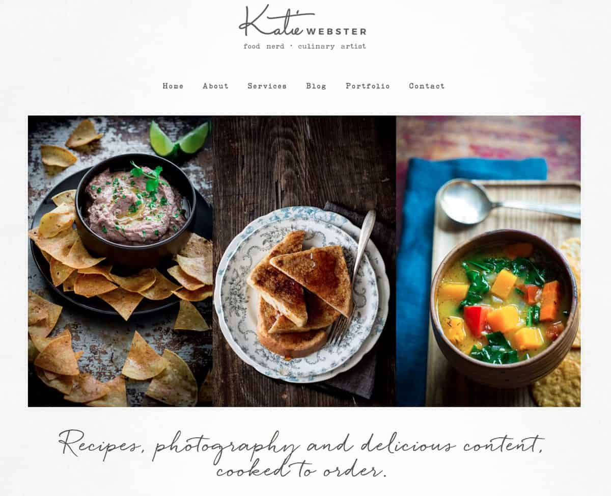 KatieWebster.com Freelance recipe and food photography content developer