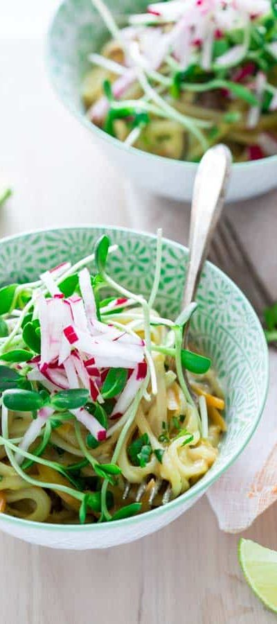 coconut lime noodle bowls {vegan and gluten-free}