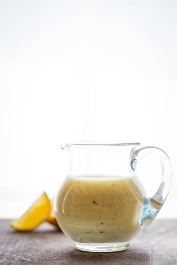Lemon Juice Salad Dressing on Healthy Seasonal Recipes by Katie Webster. This paleo and vegan friendly lemon vinaigrette is naturally gluten free and so easy to make!