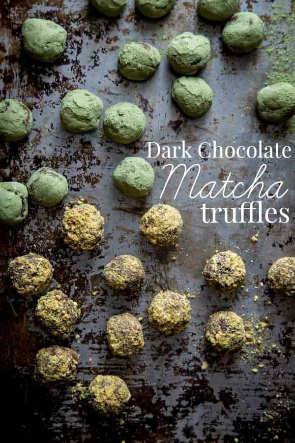 Matcha Dark Chocolate Truffles Recipe