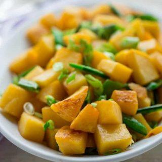 Brown Sugar and Coconut Glazed Rutabaga Salad | Dairy Free | Paleo | Primal | Gluten Free | Vegetarian | Healthy Seasonal Recipes