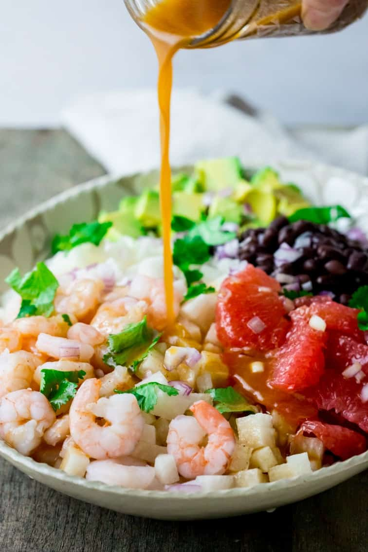 mexican jicama shrimp ...