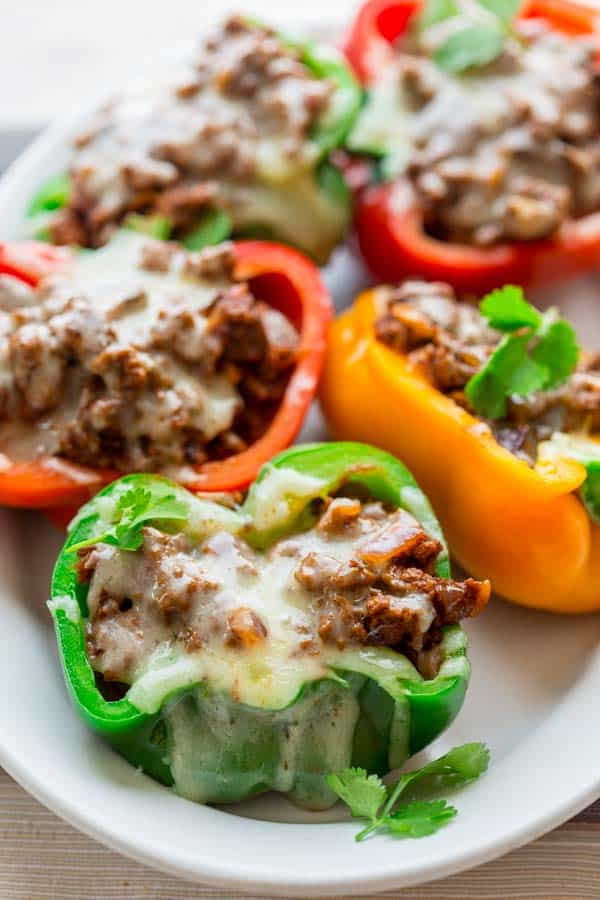 Low Carb Mexican Stuffed Peppers By Katie Webster On Healthy Seasonal Recipes