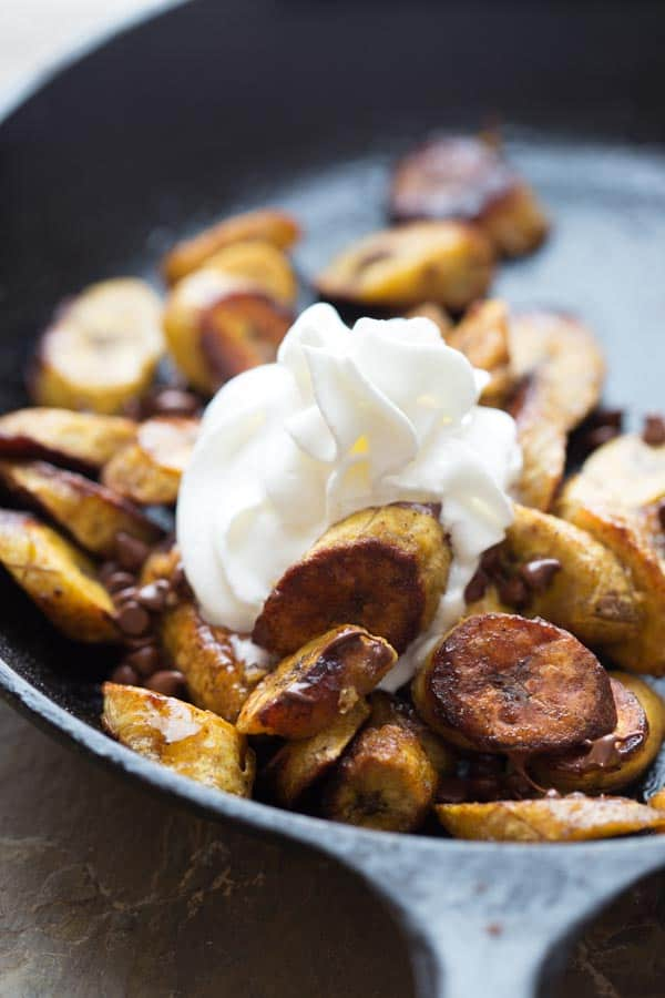 maple allspice roasted plantains {vegan and paleo}