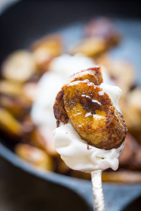 Maple Allspice Roasted Plantains. A simple dessert for two! {paleo, gluten-free and vegan} on Healthy Seasonal Recipes by Katie Webster