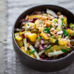 Roasted Delicata Salad with Warm Pickled Onion Dressing | wilt-free | no-lettuce | Dinner | Lunch | Healthy Seasonal Recipes