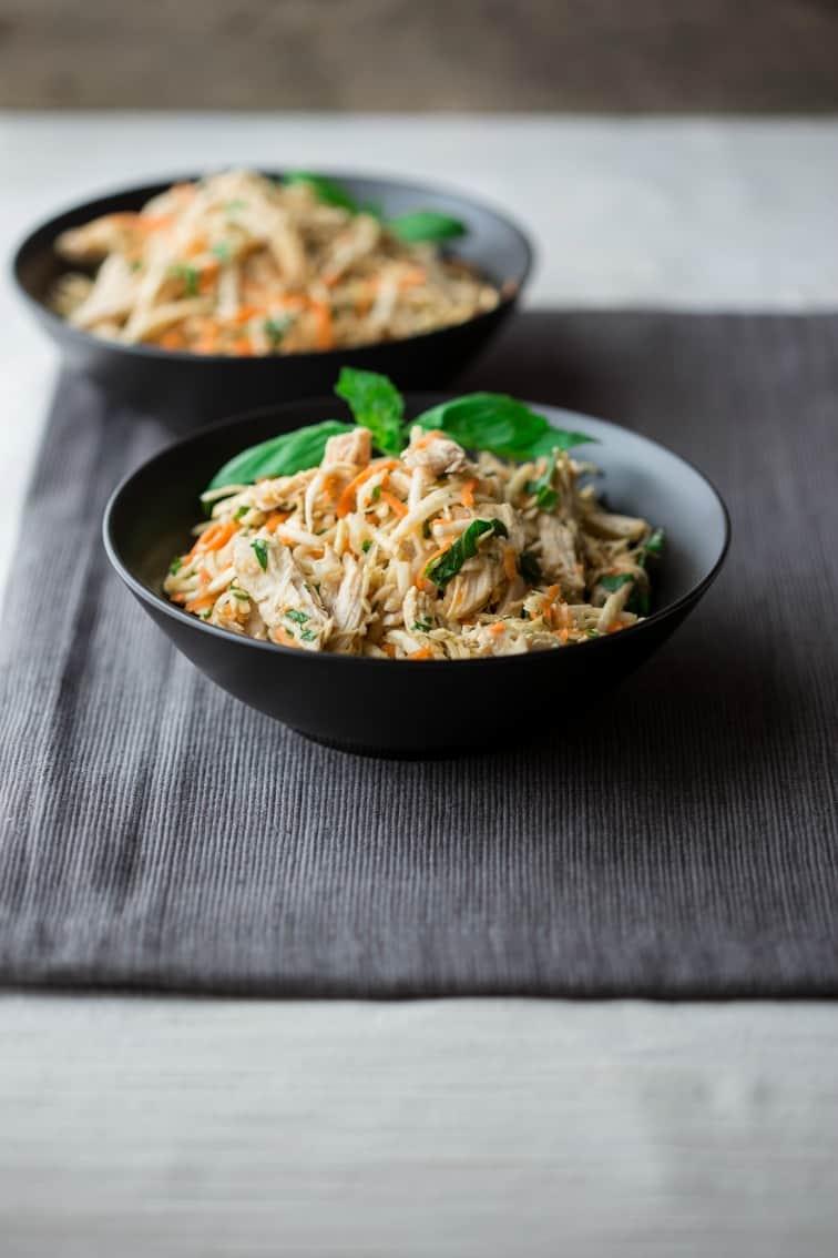 Sesame Chicken Salad | celeriac | Lunch | Vegetables | Salad Dressing | Winter | Healthy Seasonal Recipes