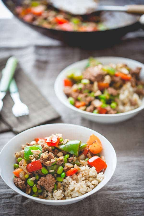 Easy as can be 20 minute stir-fry with Hoisin Pork and Peppers by Katie Webster on healthy seasonal recipes