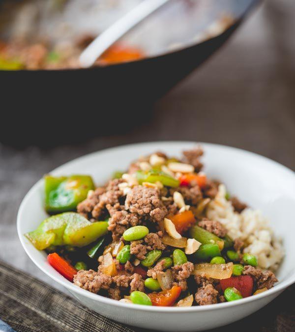 hoisin pork and pepper stir-fry