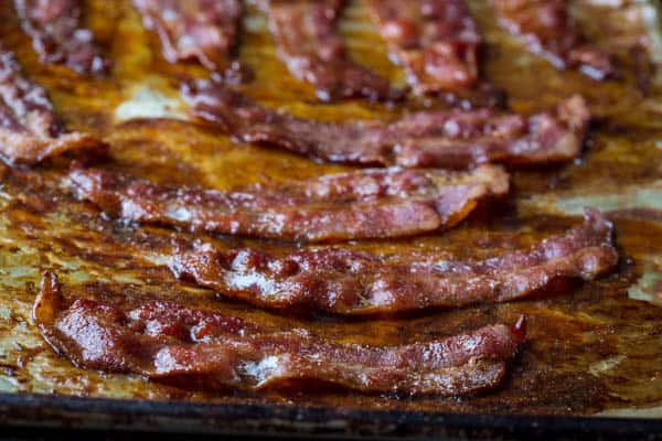 Black Pepper Maple Candied Bacon by Katie Webster of healthyseasonalrecipes.com naturally glutenfree and paleo
