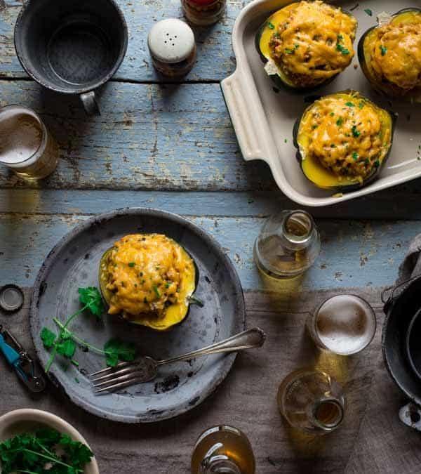30-minute mexican quinoa stuffed acorn squash