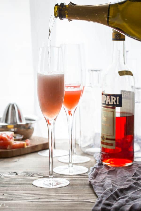 Sparkling Grapefruit Champagne Cocktail