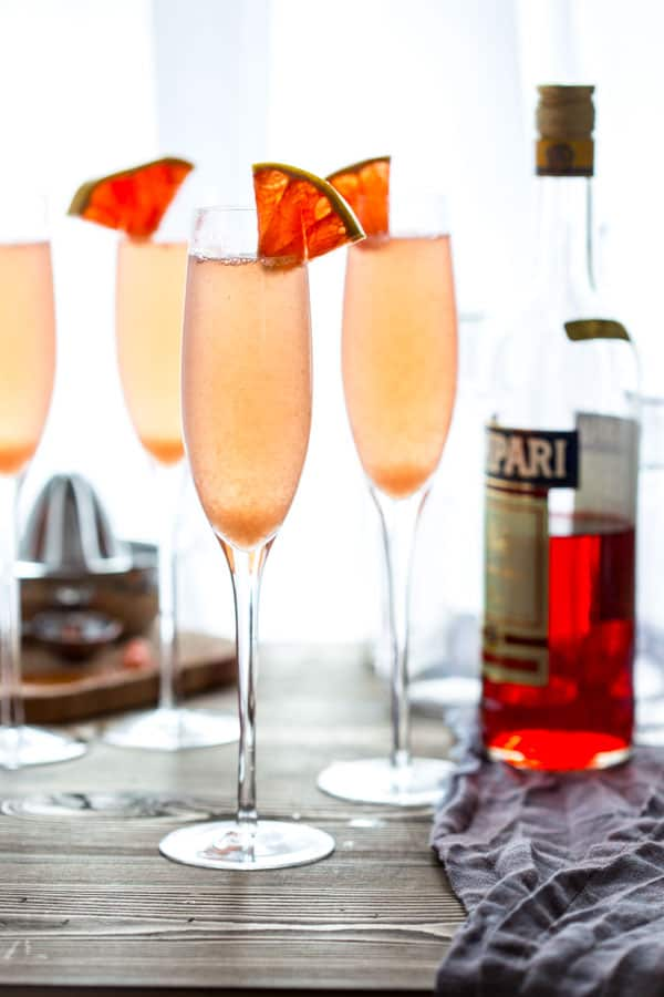 Sparkling Grapefruit Champagne Cocktail